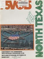 1975 Football Program - UT vs North Texas