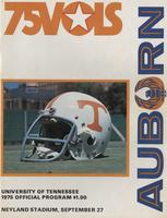 1975 Football Program - UT vs Auburn