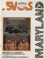 1975 Football Program - UT vs Maryland