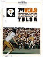 1974 Football Program - UT vs Tulsa