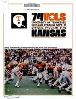 1974 Football Program - UT vs Kansas