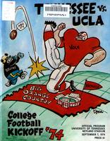 1974 Football Program - UT vs UCLA