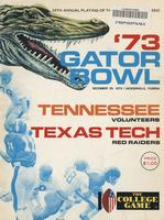 1973 Football Program - UT vs Texas Tech (Gator Bowl)