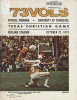 1973 Football Program - UT vs Texas Christian