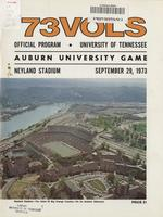 1973 Football Program - UT vs Auburn
