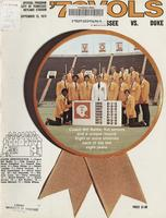 1973 Football Program - UT vs Duke
