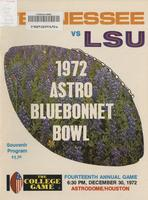 1972 Football Program - UT vs LSU (Bluebonnet Bowl)