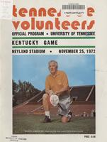 1972 Football Program - UT vs Kentucky