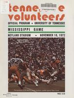 1972 Football Program - UT vs Mississippi