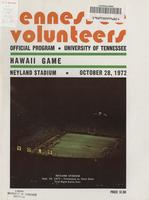 1972 Football Program - UT vs Hawaii