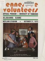 1972 Football Program - UT vs Alabama