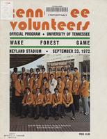 1972 Football Program - UT vs Wake Forest