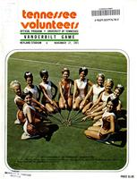 1971 Football Program - UT vs Vanderbilt