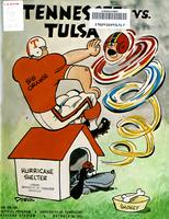 1971 Football Program - UT vs Tulsa