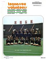 1971 Football Program - UT vs Georgia Tech