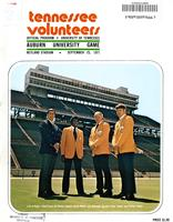 1971 Football Program - UT vs Auburn