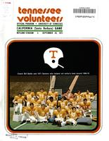1971 Football Program - UT vs UC-Santa Barbara
