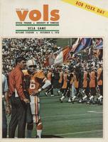 1970 Football Program - UT vs UCLA