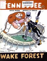 1970 Football Program - UT vs Wake Forest (at Memphis)