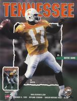 1999 Football Program - UT vs Notre Dame