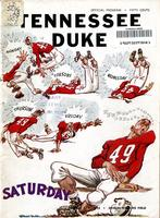 1955 Football Program - UT vs Duke