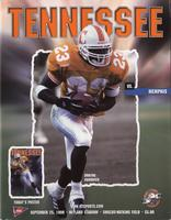 1999 Football Program - UT vs Memphis