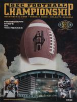 1998 Football Program - UT vs Mississippi State (SEC Championship)