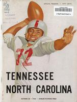 1954 Football Program - UT vs North Carolina