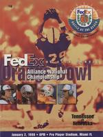 1997 Football Program - UT vs Nebraska (Orange Bowl)