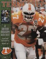 1997 Football Program - UT vs Southern Mississippi