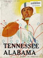 1954 Football Program - UT vs Alabama
