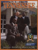 1996 Football Program - UT vs Kentucky