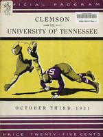 1931 Football Program - UT vs Clemson