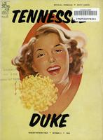 1953 Football Program - UT vs Duke