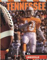 1993 Football Program - UT vs Louisville