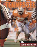1993 Football Program - UT vs South Carolina