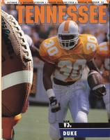 1993 Football Program - UT vs Duke