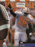 1993 Football Program - UT vs LSU