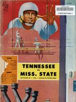 1953 Football Program - UT vs Mississippi State