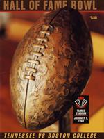 1992 Football Program - UT vs Boston College (Hall of Fame Bowl)