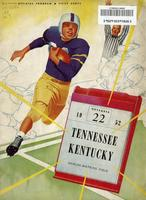 1952 Football Program - UT vs Kentucky