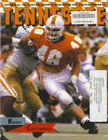 1992 Football Program - UT vs Cincinnati