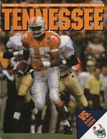 1991 Football Program - UT vs Auburn