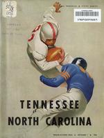 1952 Football Program - UT vs North Carolina