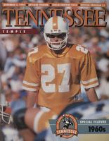 1990 Football Program - UT vs Temple