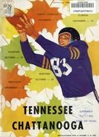 1952 Football Program - UT vs UT-Chattanooga