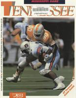 1989 Football Program - UT vs Mississippi