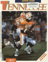 1989 Football Program - UT vs Akron