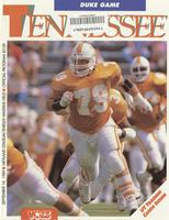 1989 Football Program - UT vs Duke
