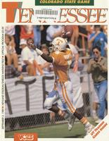 1989 Football Program - UT vs Colorado State